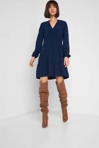 Niebieska sukienka ORSAY mini z długim rękawem