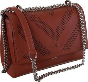 Czerwona torebka David Jones na ramię w stylu glamour mała