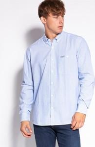 Niebieska koszula Lee Cooper z długim rękawem z kołnierzykiem button down
