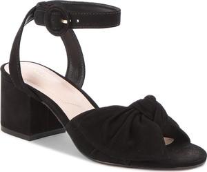 Czarne sandały Aldo w stylu casual z klamrami z nubuku
