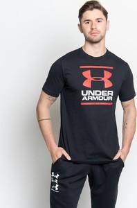 Czarny t-shirt Under Armour z bawełny z krótkim rękawem w sportowym stylu