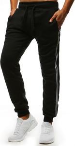 Czarne spodnie sportowe Dstreet w sportowym stylu z bawełny