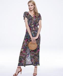 Sukienka L'AF maxi z dekoltem w kształcie litery v prosta