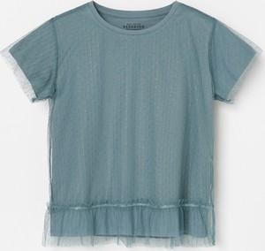 Turkusowa bluzka dziecięca Reserved