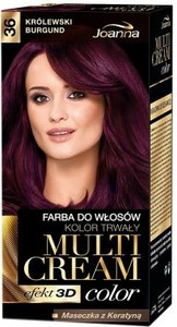 Joanna Multi Cream Color farba do każdego typu włosów nr 36 królewski burgund 120 ml