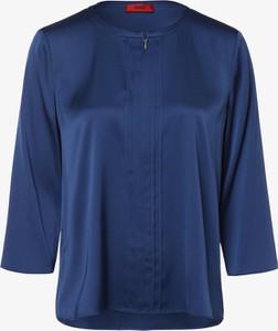 Bluzka Hugo Boss z jedwabiu z długim rękawem