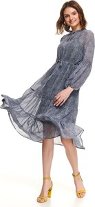 Niebieska sukienka Top Secret z szyfonu