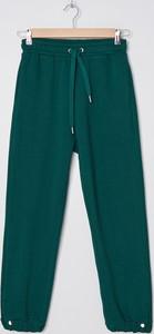 Zielone spodnie sportowe House z dresówki