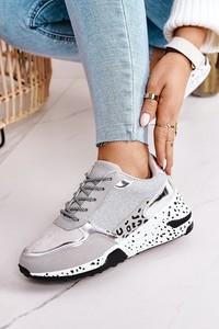 Buty sportowe Ps1 z płaską podeszwą sznurowane ze skóry