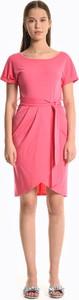 Sukienka Gate mini z krótkim rękawem z okrągłym dekoltem