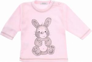 Różowa bluzka dziecięca Sofija z bawełny