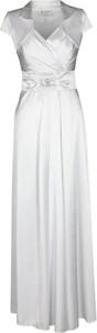 Sukienka Fokus z kołnierzykiem z bawełny maxi