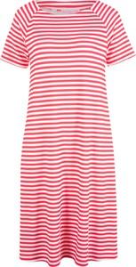 Sukienka bonprix bpc bonprix collection z krótkim rękawem z okrągłym dekoltem