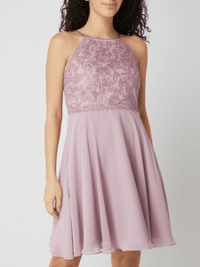 Sukienka Jake*s z szyfonu rozkloszowana z okrągłym dekoltem