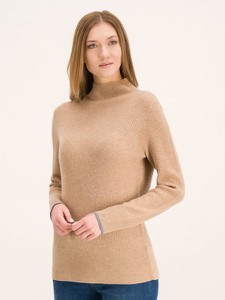 Brązowy sweter Calvin Klein w stylu casual