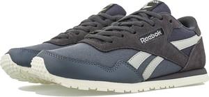 Buty sportowe Reebok z płaską podeszwą z zamszu sznurowane