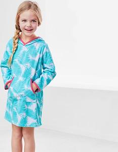 Turkusowa sukienka dziewczęca Tchibo z bawełny