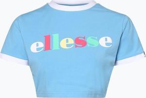Niebieski t-shirt Ellesse z okrągłym dekoltem