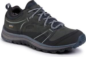 Czarne buty trekkingowe eobuwie.pl ze skóry sznurowane
