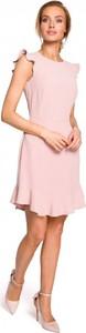 Sukienka MOE z okrągłym dekoltem mini