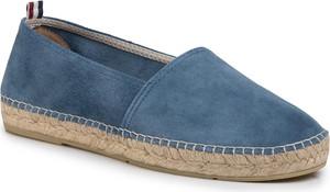 Niebieskie buty letnie męskie eobuwie.pl z tkaniny