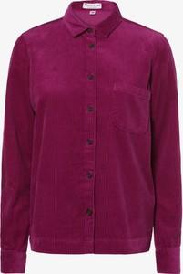 Fioletowa koszula Marie Lund z kołnierzykiem z długim rękawem