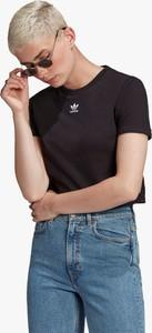 Czarna bluzka Adidas z okrągłym dekoltem