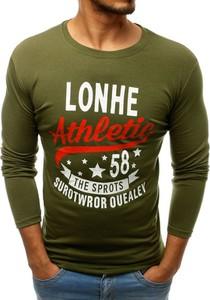 Zielona koszulka z długim rękawem Dstreet w młodzieżowym stylu z długim rękawem z bawełny