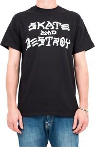 Czarny t-shirt Thrasher z bawełny w młodzieżowym stylu