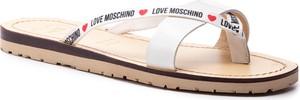 Klapki Love Moschino ze skóry
