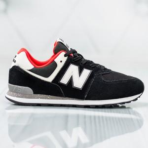 Czarne buty sportowe New Balance sznurowane 574 z płaską podeszwą