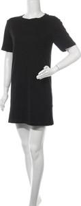 Czarna sukienka Even&Odd z krótkim rękawem mini z bawełny