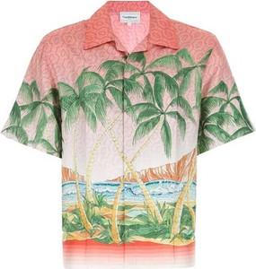 Koszula CASABLANCA z krótkim rękawem z bawełny
