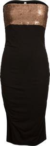Czarna sukienka bonprix BODYFLIRT boutique bez rękawów ołówkowa