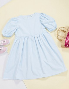 Niebieska sukienka Monki koszulowa