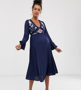 Granatowa sukienka Asos