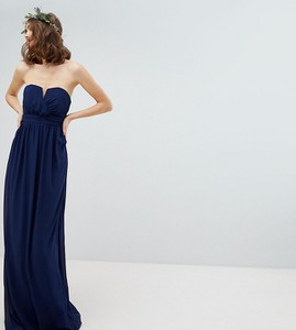 Granatowa sukienka Tfnc Tall bez rękawów gorsetowa