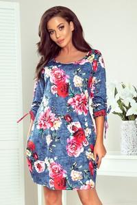 Sukienka Ptakmoda.com z tkaniny z okrągłym dekoltem oversize