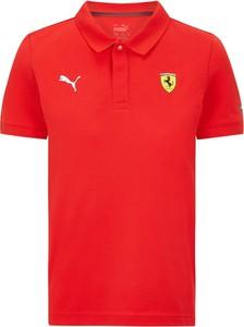 Czerwona koszulka dziecięca Scuderia Ferrari F1 Team z bawełny
