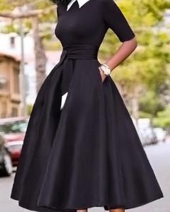 Sukienka Kendallme z długim rękawem midi rozkloszowana