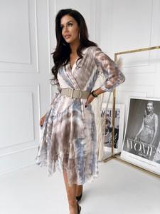 Sukienka Versada z długim rękawem midi