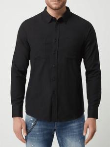 Czarna koszula Urban Classics w stylu casual z długim rękawem z bawełny