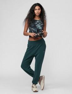 Zielone spodnie sportowe 4F z dzianiny