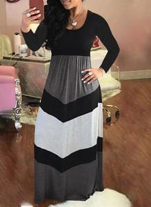 Sukienka Cikelly maxi z okrągłym dekoltem w stylu casual