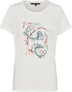 T-shirt vero moda w młodzieżowym stylu z bawełny