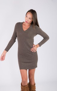 Sukienka Just Cashmere z długim rękawem mini