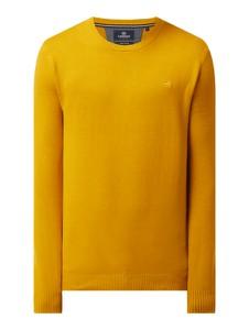 Sweter Lerros z okrągłym dekoltem z bawełny w stylu casual