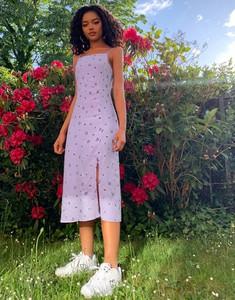 Fioletowa sukienka Pimkie na ramiączkach
