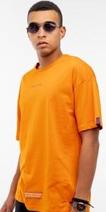 Pomarańczowy t-shirt BREEZY