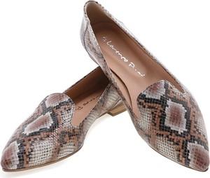 Lordsy Lafemmeshoes w stylu vintage ze skóry